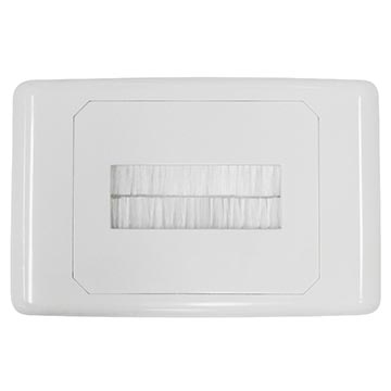 Outlet Plate with Brush Cover