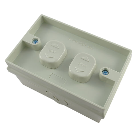 Double Weatherproof Surface Switch 2 Gang
