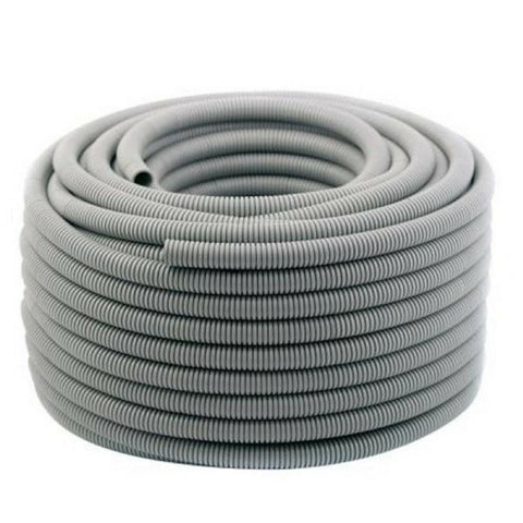 CORRUGATED CONDUIT GREY 25MM X 25M