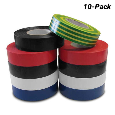 PVC Insulation Tape Rainbow pack of 10