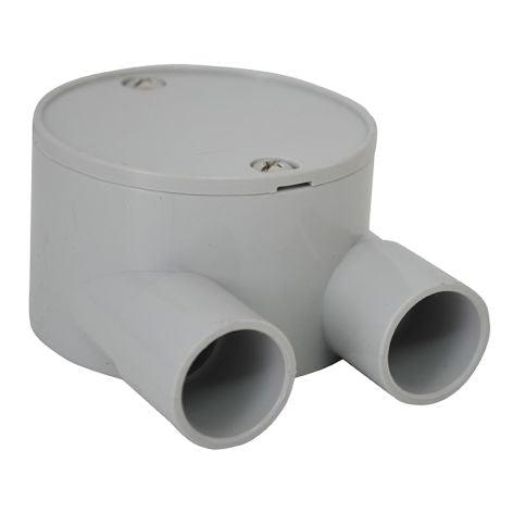 PVC-2 Way U Type Shallow J/Box 25mm