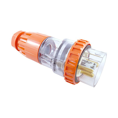 IP66 3 Pin Straight Plug Ð 250V AC 32A