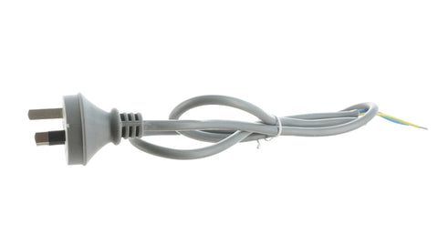 3pin Power cord with plug 2mtr 15A 2 Core & Earth - Grey 1.5mm