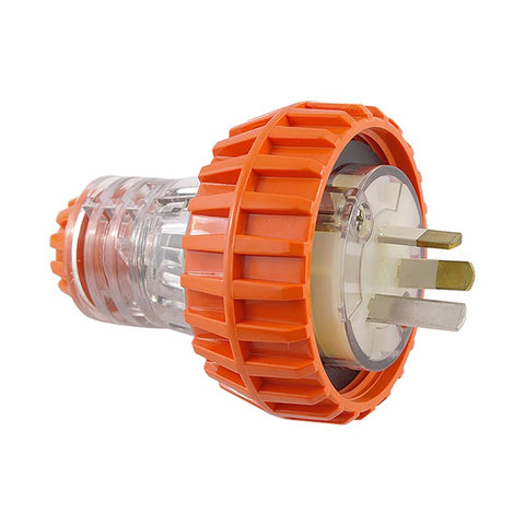 IP66 3 Pin Straight Plug Ð 250V AC 10A