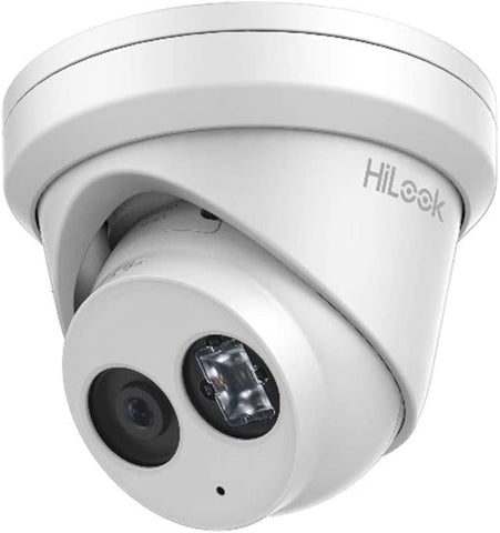 HiLook by Hikvision 6 MP IP Turret dome with 2.8 mm Lens, built-in mic and up to 30 m IR