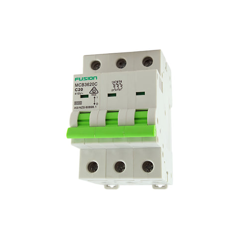 Circuit Breaker 3 Pole 500V ac. 40amp C Curve Breaking capacity 6kA