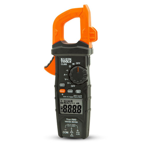 Digital Clamp Meter - AC, Auto-Ranging, 600 A
