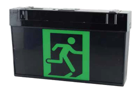 Universal LED Exit Sign- Black