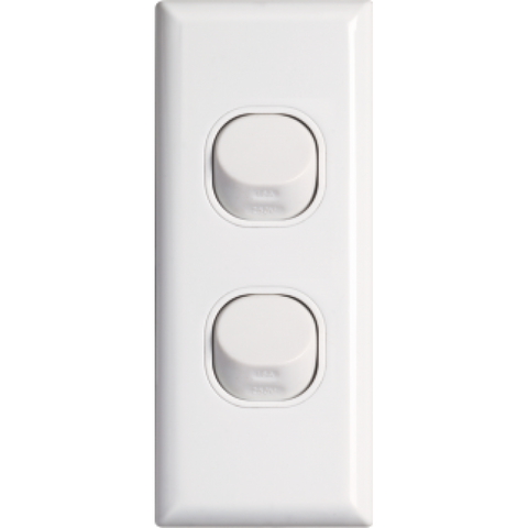 Standard double architrave switch vertical