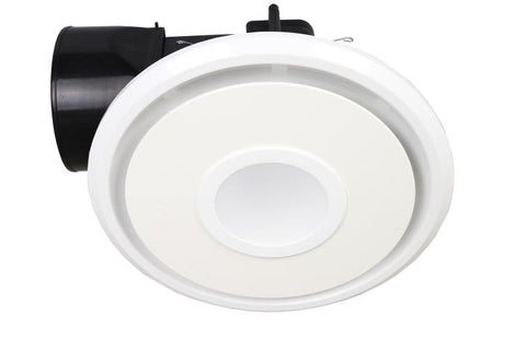 Exhaust Fan Round 240mm White + Light