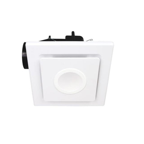 Exhaust Fan Square 240mm White + Light