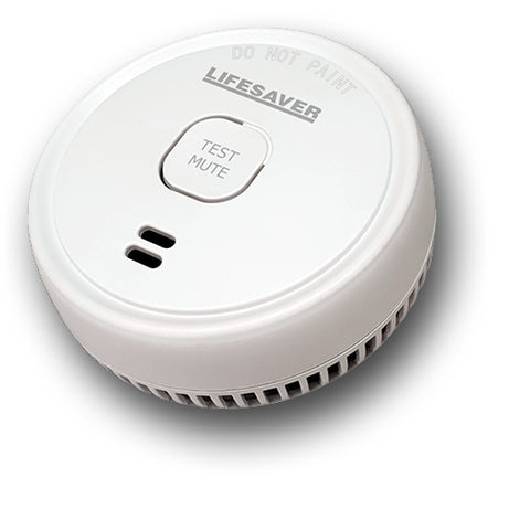 9V BATTERY POWERED PHOTOELECTRIC SMOKE ALARM