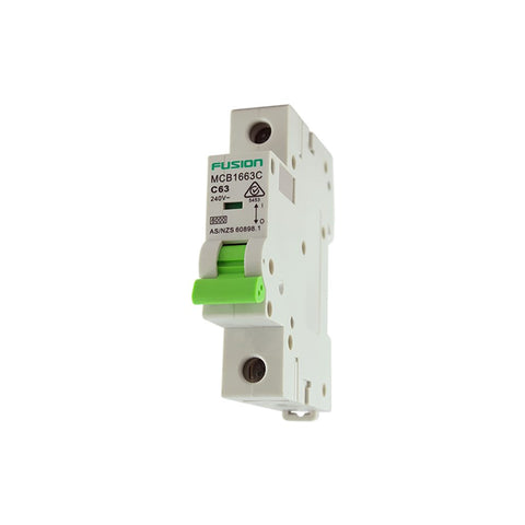 Circuit Breaker 1 Pole 250V ac. 6amp C Curve Breaking capacity 6kA