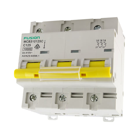 Circuit Breaker 3 Pole 500V ac. 125amp D Curve Breaking capacity 10kA