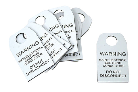 MAINMain Electrical Earthing Conductor Tag ELECTRICAL EARTHING CONDUCTOR TAG