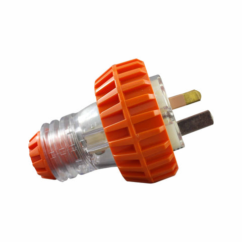 IP66 3 Pin Straight Plug Ð 250V AC 15A