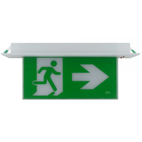 LED Recessed Exit Light