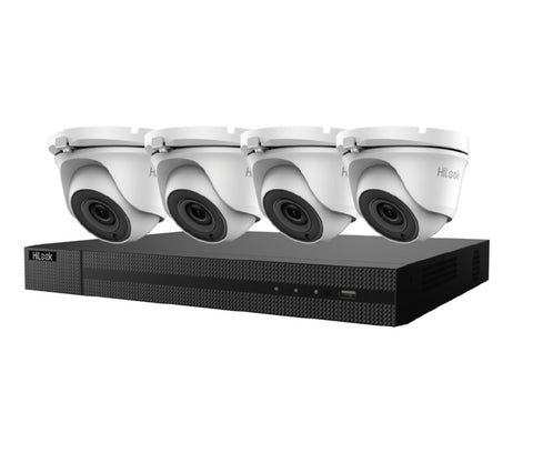 HiLook By HIKVISION 4x 5MP NETWORK TURRET KIT with 8CH NVR + 2TB HDD