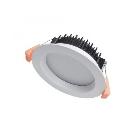 LED Downlight kit 13W: C-BUS2 Compatible Recessed Dimmable LED Downlight Tri colour - White Fitting 90mm CUT-OUT