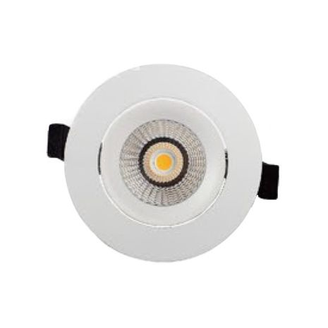 LED Downlight kit COB 13w Samsung LED chip Dimmable- Tri-Colour  White Fitting