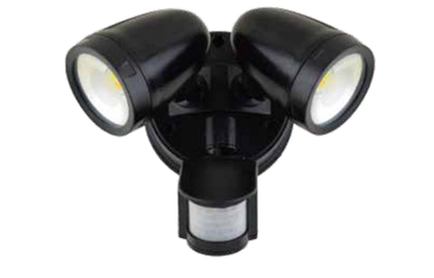 LED Twin Security Spot Light Outdoor 2x13W Quick Fit With Sensor - SAA Approve