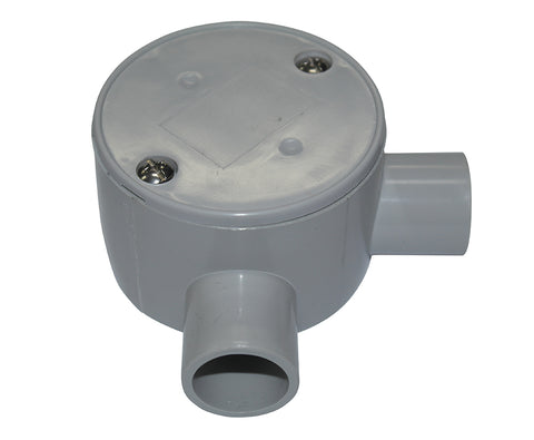 JUNCTION BOX SHALLOW 20MM R/ANGLE ENTRY