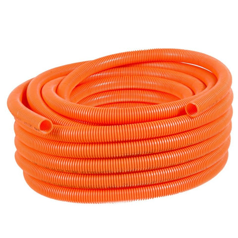 CORRUGATED CONDUIT ORANGE 20MM X 20M