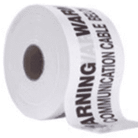 TAPE IDENT U/G CAUTION PVC 150mm - 500mtr WHITE COMMS