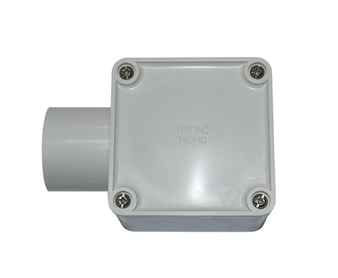 JUNCTION BOX SQUARE 40MM 1 WAY ENTRY