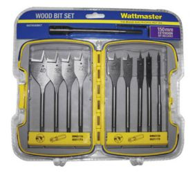 WATTMASTER 11 Pieces Wood Bit Set
