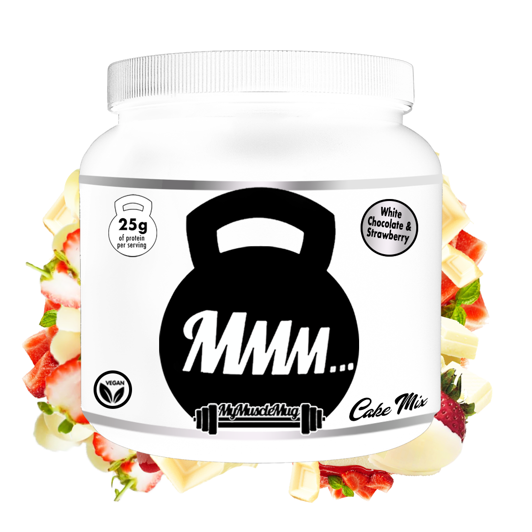 White Chocolate & Strawberry MyMuscleMug Cake Mix (Vegan&Gluten Free)
