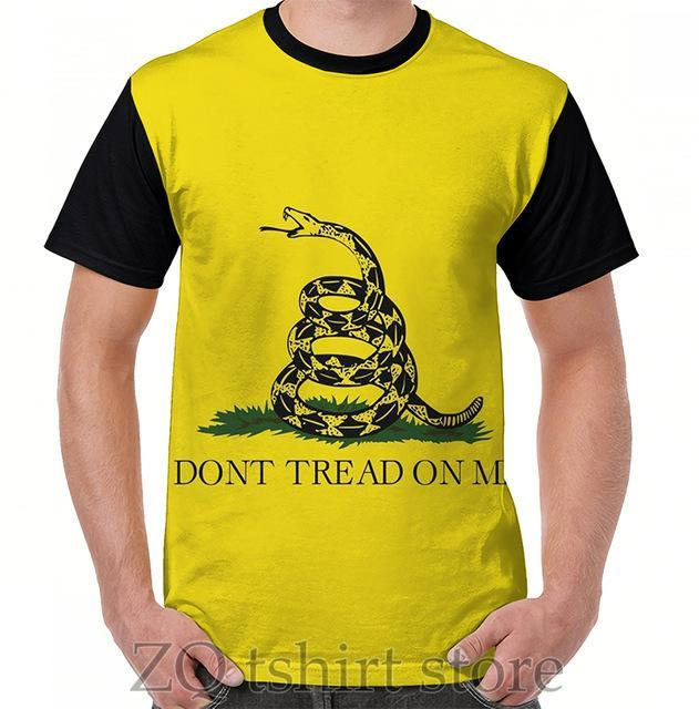 Dont Tread On Me - Libertarian Style Graphic T-Shirt men tops tee women t shirt men funny print O-neck Short Sleeve tshirts