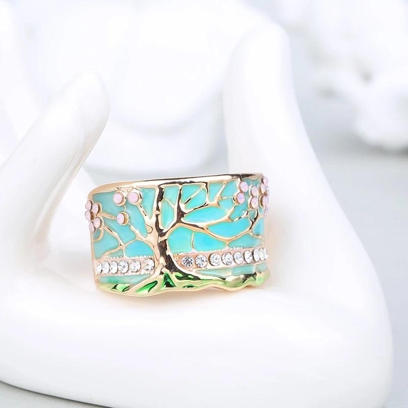 Handmade Lucky Tree Opal Ring
