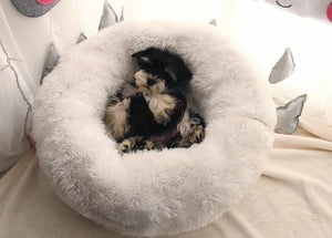Mini - Round Fluffy Plush Pet Bed