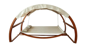 Hanging poolside leisure bed