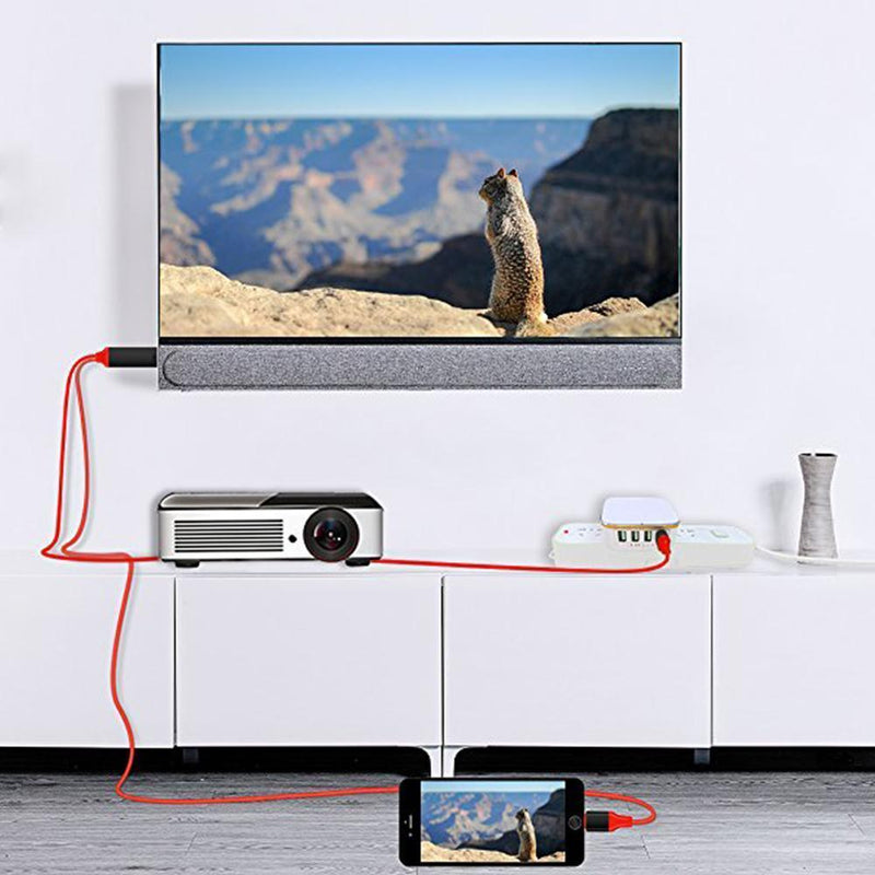 Cabo Adaptador De Monitor HDMI de IPhone / Android Para TV