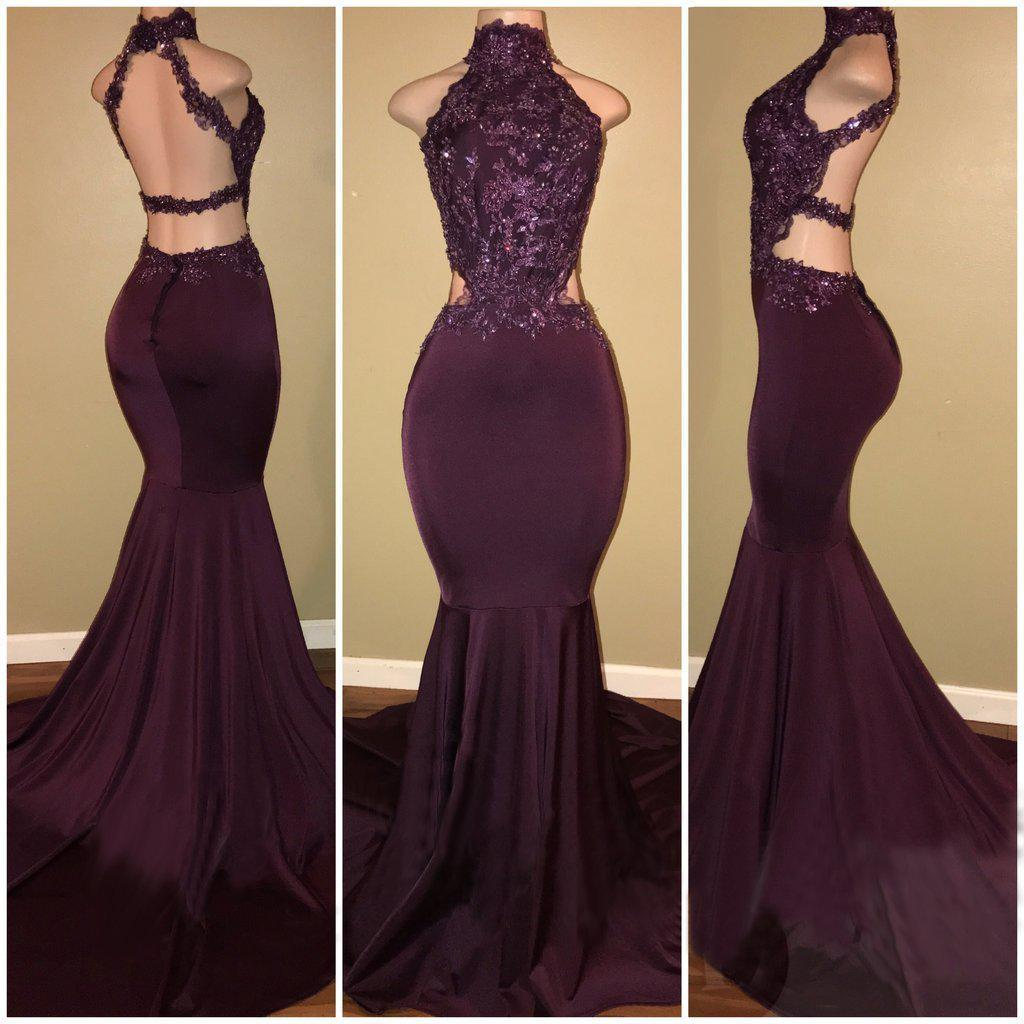 2020 Halter Sexy Sequined Mermaid Backless Bandage Prom Dresses