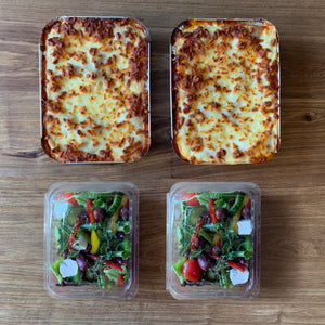 Beef Lasagne and Salad