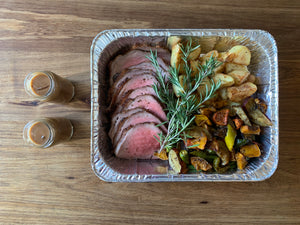 Roast Beef, potatoes and veggies