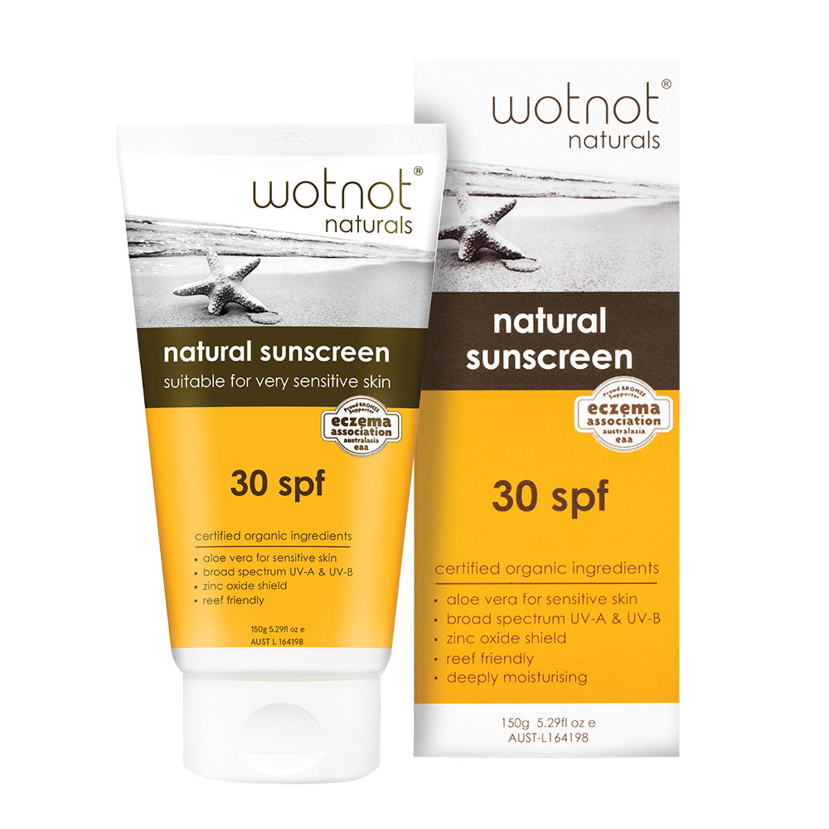 Wotnot Natural Sunscreen 30 SPF - The Conscious Spender