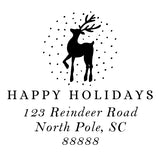 Stamp - Reindeer Address
