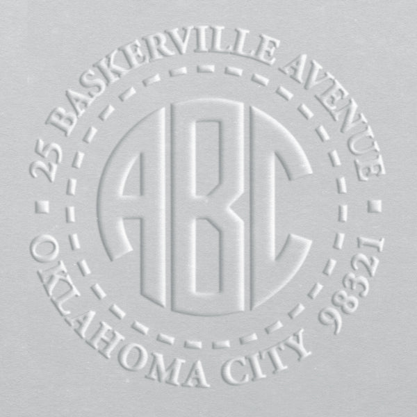 Address Embosser - Block Monogram