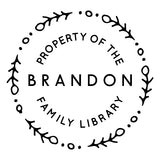 Book Stamp - Brandon Family