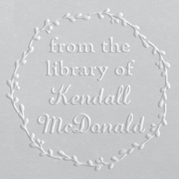 Book Embosser - Kendall Wreath