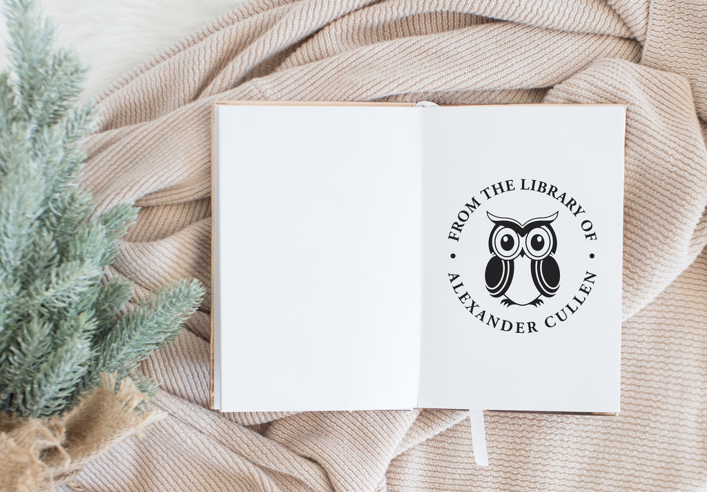 Book Stamp - Owl Circle