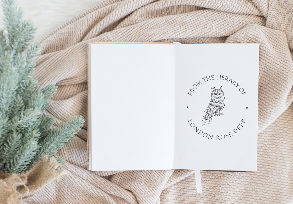 Book Stamp - Owl Whimsical