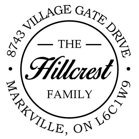 hillcrest address embosser