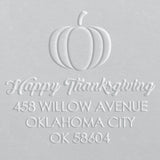 Address Embosser - Pumpkin Thanksgiving