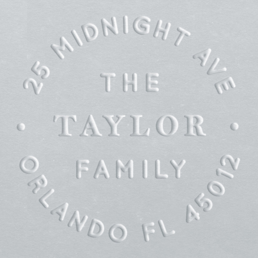 Address Embosser - Taylor Family