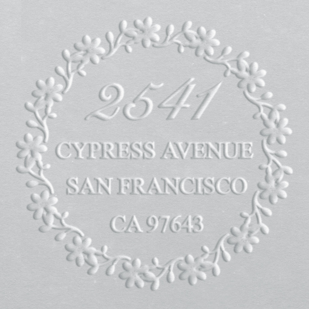 Address Embosser - Floral Wreath